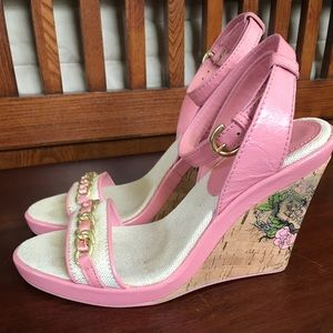 Coach Ellette Wedge Sandals Size 6